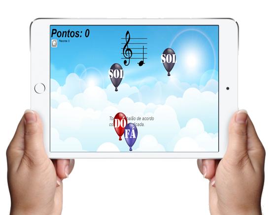 Jogos Musicais online – Balão de Notas – Clave de Sol